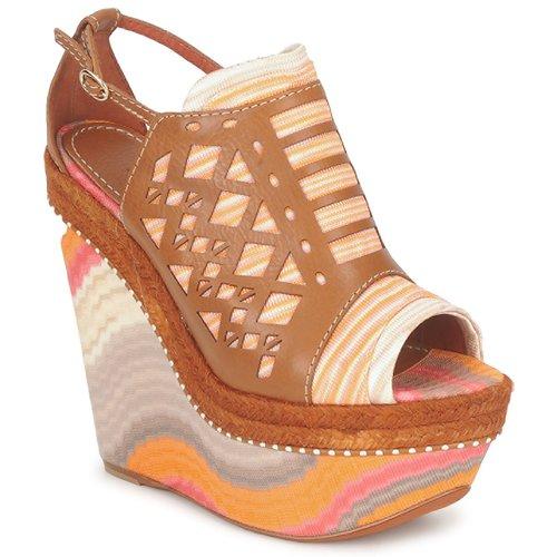 Schoenen Dames Sandalen / Open schoenen Missoni TM22 Bruin / Oranje