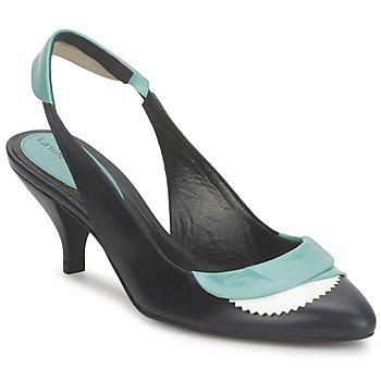 Schoenen Dames Sandalen / Open schoenen Karine Arabian LILA Inkt / Wit / Turquoize