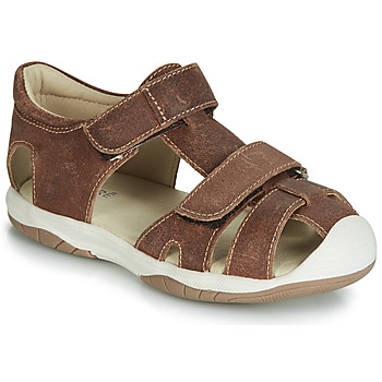 Schoenen Jongens Sandalen / Open schoenen André CHALOUPE Bruin