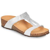 Schoenen Dames Sandalen / Open schoenen André REVERA Zilver / Wit
