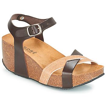 Schoenen Dames Sandalen / Open schoenen André HERA Bruin