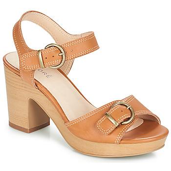 Schoenen Dames Sandalen / Open schoenen André ROULOTTE Camel
