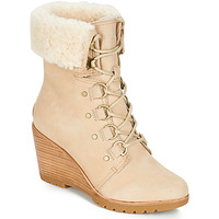 Schoenen Dames Snowboots Sorel AFTER HOURS LACE SHEARLING Beige