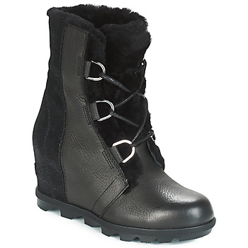 Schoenen Dames Snowboots Sorel JOAN OF ARCTIC™ WEDGE II LUX Zwart