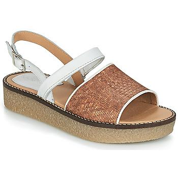 Schoenen Dames Sandalen / Open schoenen Kickers VICTORIETTE Bruin / Wit