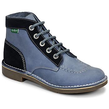 Schoenen Dames Laarzen Kickers KICK COL Blauw