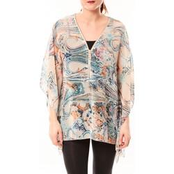 Textiel Dames Overhemden De Fil En Aiguille Tunique Love Look 1218 Bleu Blauw