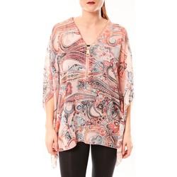 Textiel Dames Overhemden De Fil En Aiguille TuniqueLove Look 1218 Rose Roze