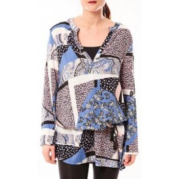 Textiel Dames Korte jurken De Fil En Aiguille Tunique Love Look 1102 Bleu Blauw