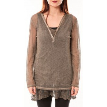 Textiel Dames Tunieken Tcqb Tunique Nuova Stella Marron Bruin