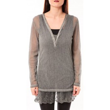Textiel Dames Tunieken Tcqb Tunique Nuova Stella Gris Grijs