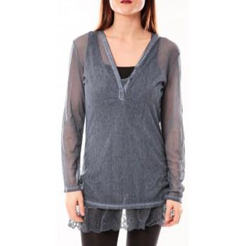 Textiel Dames Tunieken Tcqb Tunique Nuova Stella Bleu Blauw