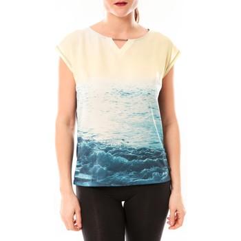 Textiel Dames T-shirts korte mouwen Little Marcel Tee-shirt Trisi E15FTSS0333 Bleu Blauw