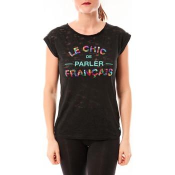 Textiel Dames T-shirts korte mouwen Little Marcel Tee-shirt Tamia E15FTSS0124 Noir Zwart