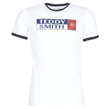 Textiel Heren T-shirts korte mouwen Teddy Smith TOZO Wit