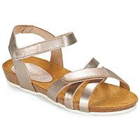 Schoenen Meisjes Sandalen / Open schoenen Kickers BOGART Brons / Metaal