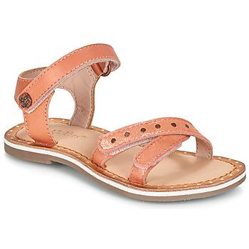 Schoenen Meisjes Sandalen / Open schoenen Kickers DIDONC Roze / Metaal