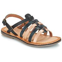 Schoenen Meisjes Sandalen / Open schoenen Kickers DIXON Zwart / Slang