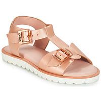 Schoenen Meisjes Sandalen / Open schoenen Kickers ISABELA Roze / Metaal