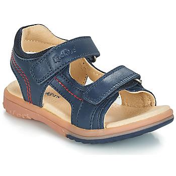 Schoenen Jongens Sandalen / Open schoenen Kickers PLATINO Marine