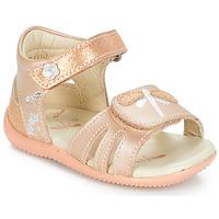 Schoenen Meisjes Sandalen / Open schoenen Kickers BESHINE Roze / Metaal