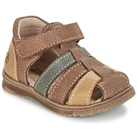 Schoenen Jongens Sandalen / Open schoenen Citrouille et Compagnie FRINOUI Bruin / Multicolour