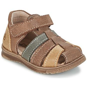 Schoenen Jongens Sandalen / Open schoenen Citrouille et Compagnie FRINOUI Bruin / Multi