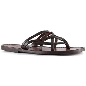 Schoenen Dames Sandalen / Open schoenen Gianluca - L'artigiano Del Cuoio 543 D MORO CUOIO Testa di Moro