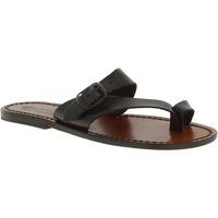 Schoenen Dames Sandalen / Open schoenen Gianluca - L'artigiano Del Cuoio 556 D MORO CUOIO Testa di Moro
