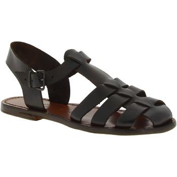 Schoenen Dames Sandalen / Open schoenen Gianluca - L'artigiano Del Cuoio 501 D MORO CUOIO Testa di Moro