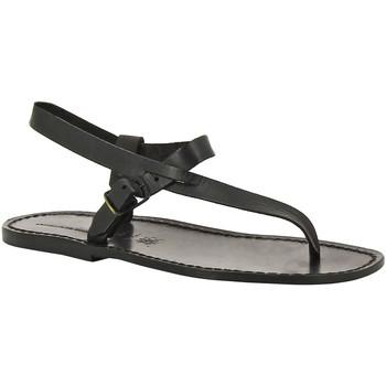 Schoenen Heren Sandalen / Open schoenen Gianluca - L'artigiano Del Cuoio 592 U NERO CUOIO nero