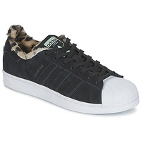 Schoenen Dames Lage sneakers adidas Originals SUPERSTAR W Zwart