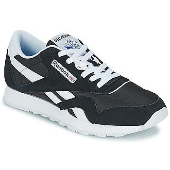 Schoenen Lage sneakers Reebok Classic CL NYLON Zwart / Wit