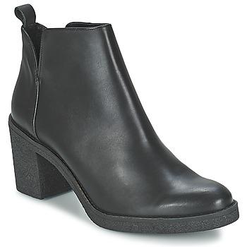 Schoenen Dames Enkellaarzen Miista KENDALL Zwart