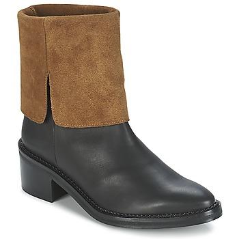 Schoenen Dames Laarzen Miista KAMILA Zwart / Bruin