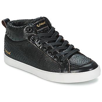 Schoenen Dames Hoge sneakers Feiyue DELTA MID DRAGON Zwart