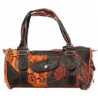 Tassen Dames Handtassen lang hengsel Bamboo's Fashion Sac à main Doha GN-146 Orange/Marron Oranje