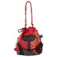 Tassen Dames Schoudertassen met riem Bamboo's Fashion Sac cabas Barcelone GN-1411 Rouge Rood