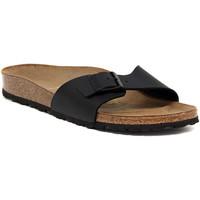 Schoenen Dames Leren slippers Birkenstock MADRID SCHWARZ CALZ S Nero
