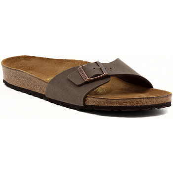 Schoenen Dames Leren slippers Birkenstock MADRID MOCCA CALZ S Marrone