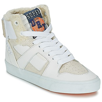Schoenen Dames Hoge sneakers Superdry MARIAH HIGH TOP Wit