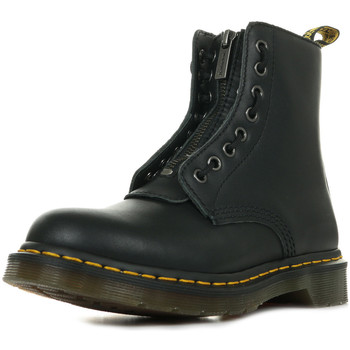 Schoenen Dames Laarzen Dr Martens 1460 Pascal Front ZIP Zwart