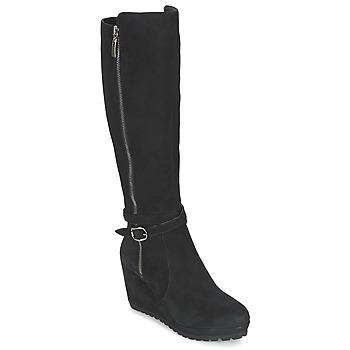 Schoenen Dames Hoge laarzen Moda In Pelle SITA Zwart