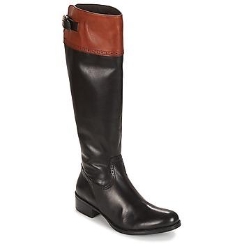 Schoenen Dames Hoge laarzen Moda In Pelle TULSY Zwart