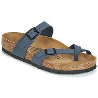 Schoenen Dames Leren slippers Birkenstock MAYARI Marine