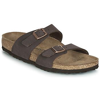 Schoenen Dames Leren slippers Birkenstock SYDNEY Bruin