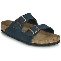 Schoenen Heren Leren slippers Birkenstock ARIZONA SFB Marine