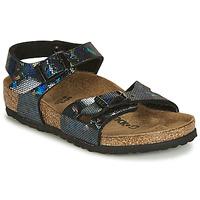 Schoenen Meisjes Sandalen / Open schoenen Birkenstock RIO Zwart