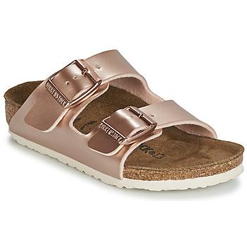 Schoenen Meisjes Leren slippers Birkenstock ARIZONA Goud