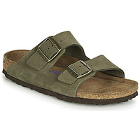 Schoenen Dames Leren slippers Birkenstock ARIZONA SFB Kaki